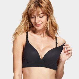 Gratlin Smooth Black Maternity Bra (A049) 32C